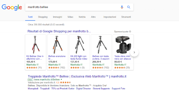 Examples of Manfrotto's campaigns