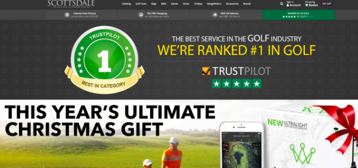 Scottsdale highlights their #1 ranking prominently on the home page.