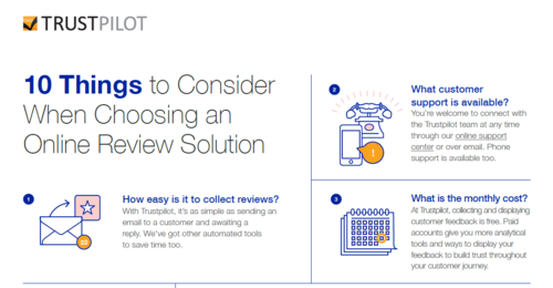 10 Things to consider when choosing an online review solution [INFOGRAPHIC]