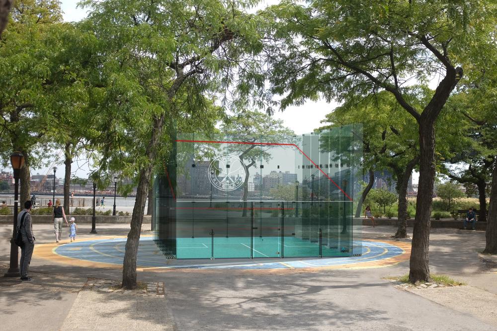 public outdoor squash court