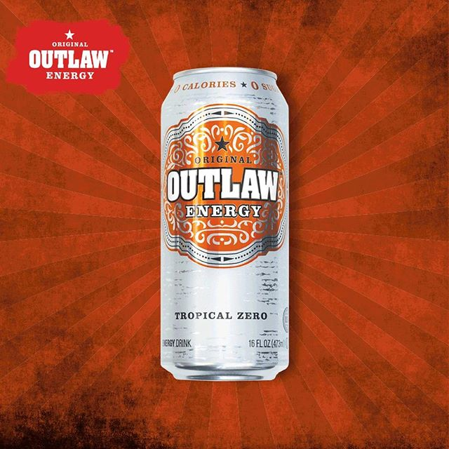 Got cabin fever? Put yourself in a summertime mood with a can of Tropical Zero Outlaw Energy. #ThisIsOutlaw