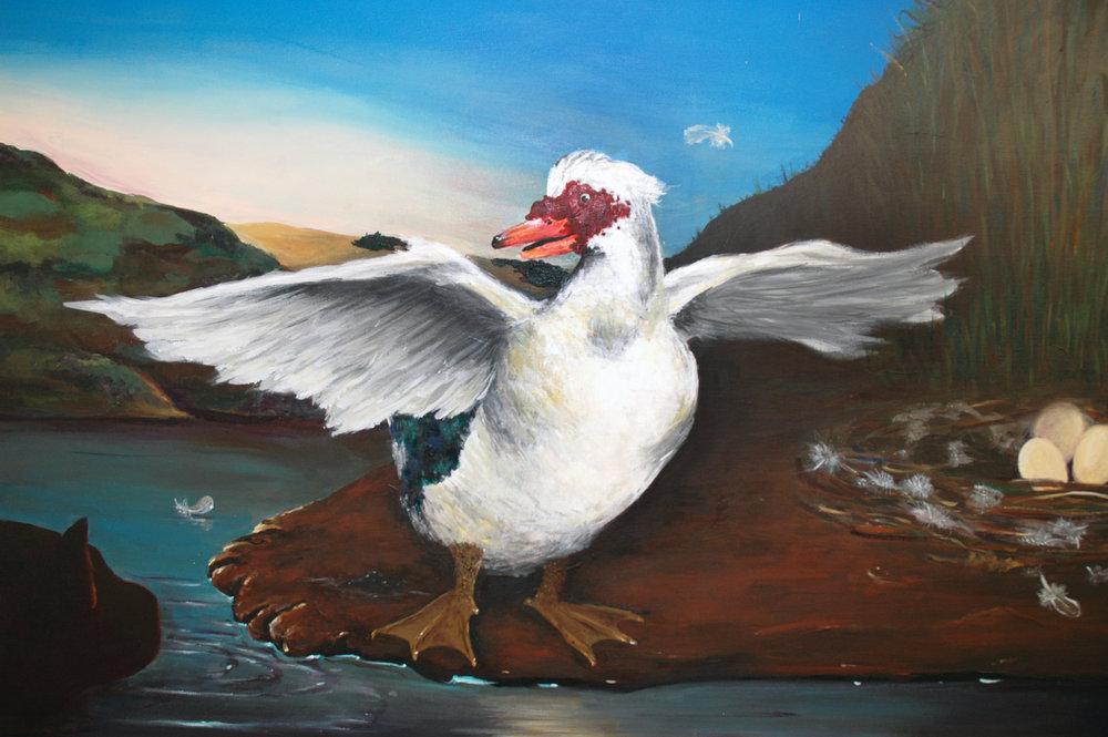 Enzo Moscarella_The Threatened Duck after Jan Asselijn detail.jpg.jpg