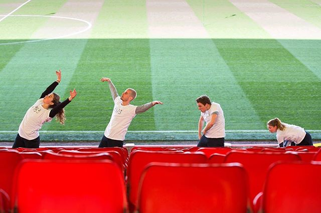 Still from @choreospondance #DANCETWO at @officialaberdeenfc by @cassonandfriends (Image by: @sidscott) Part of #DanceLive15