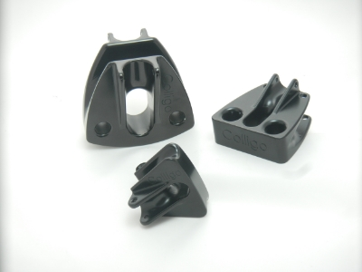 Soft Snatch Blocks of various sizes shown without Dyneema 'Softie®' Shackles.