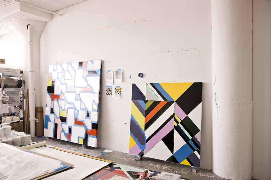 From Sarah Morris to Neil Beloufa - 5 artists talk about their studios for The Word Magazine