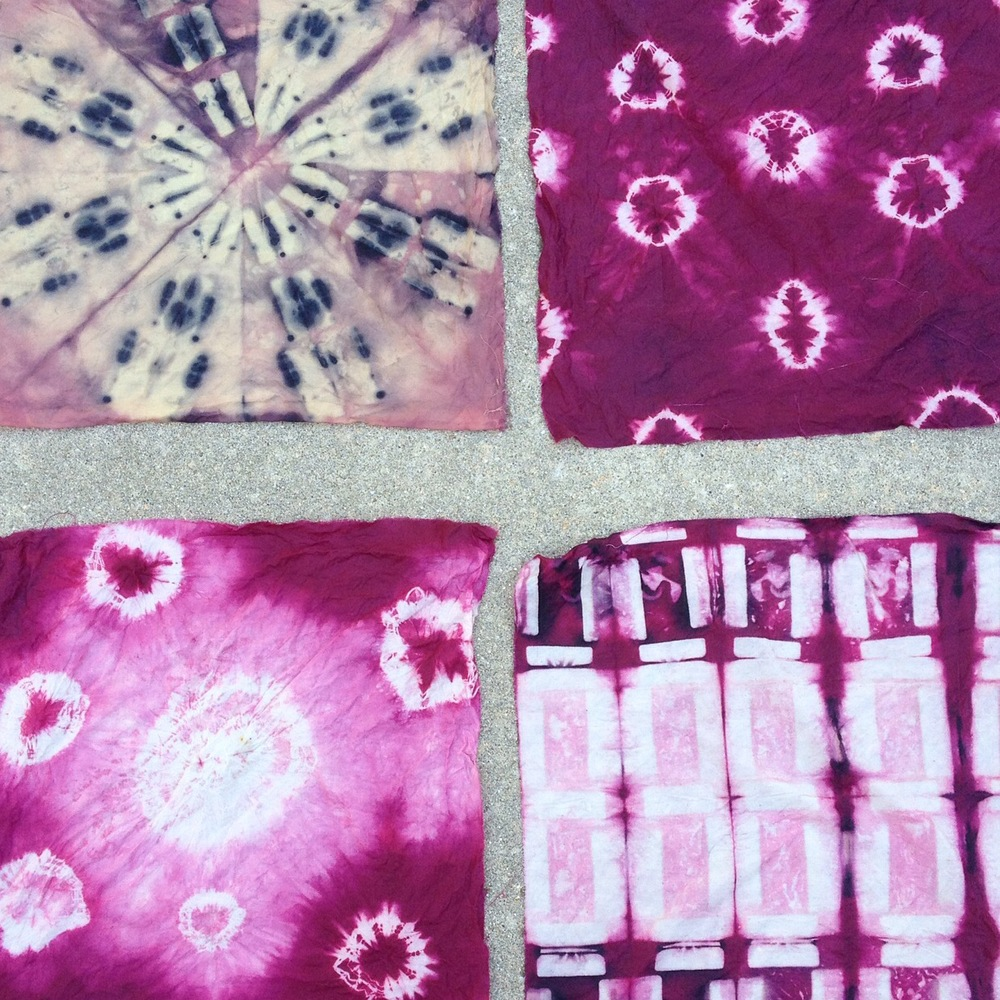 Cochineal (and unexpected rust) shibori