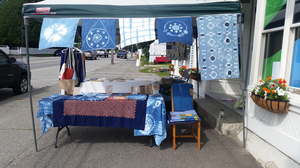 Here is my first ever Wax & Wane Fiber booth! So exciting….and so indigo!