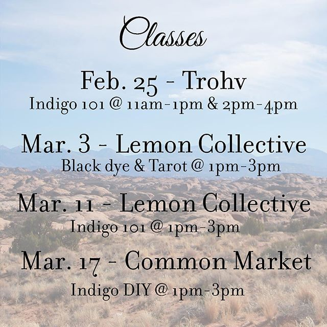 Hey folks. Here is the last set of classes we'll be teaching in Baltimore and the surrounding area. Grab a friend & come hang out! Sign ups available on the website for our top three classes. To go to the Common Market class, sign up on their website @commonmarketcoop. 💙
