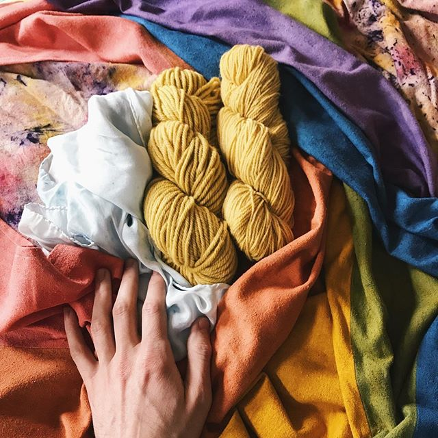 "TFW you're trying to pack everything up, but then you take out all your little babies to look at them and shower them with love and think to yourself, ""I made that!"" -A #naturaldye"