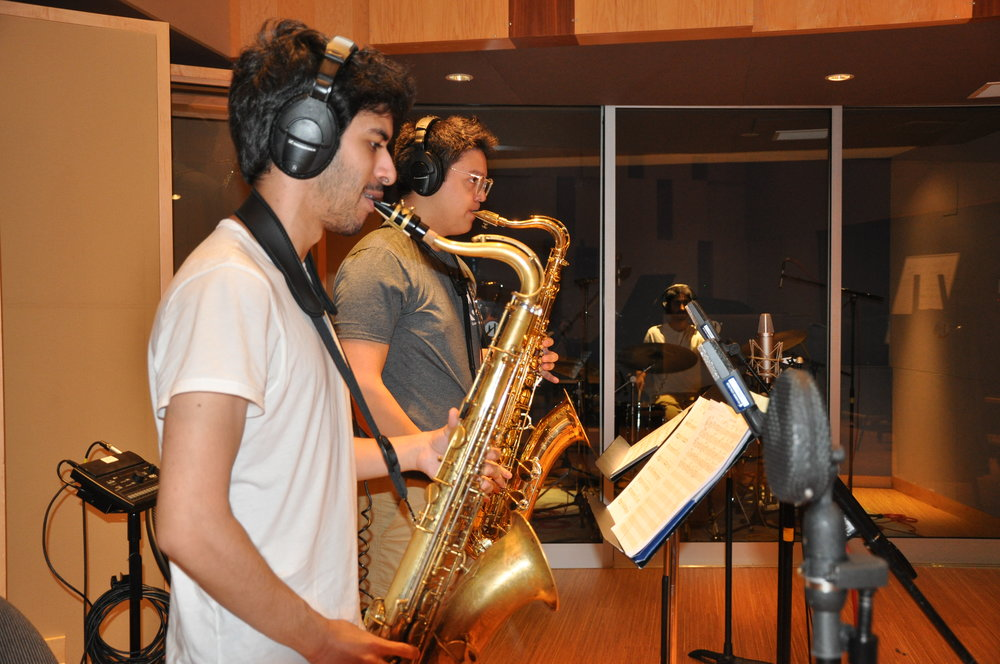 Austin Bassarath (Tenor Sax foreground)