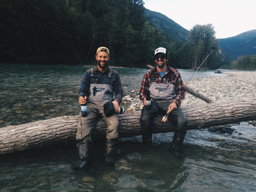 Jeremy alongside friend and fellow Keepemwet Fishing Ambassador Jeff Hickman.