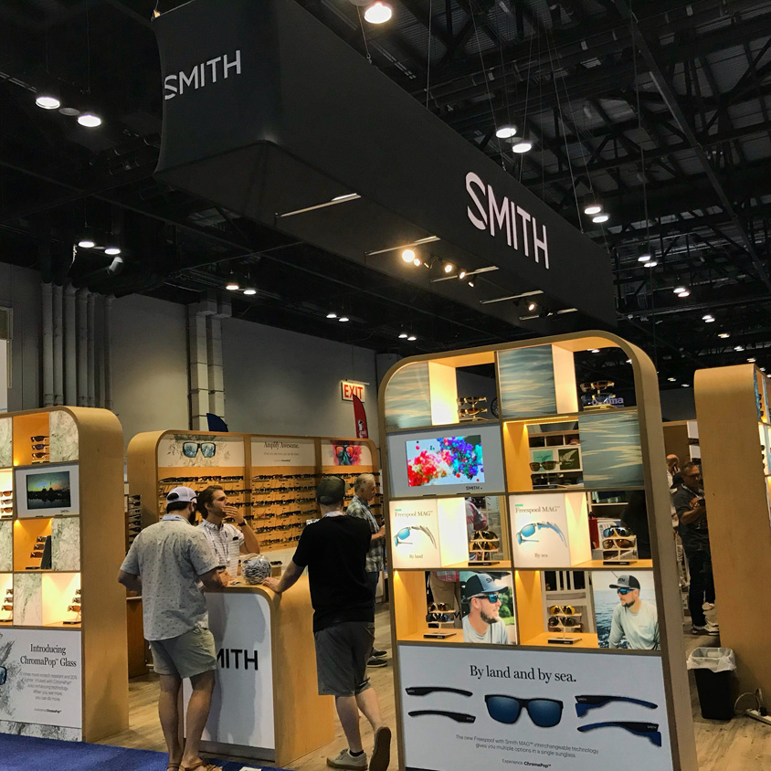 Keepemwet Fishing Brand Partner Smith Optics helped distribute our info materials to the conventional tackle portion of the ICAST/IFTD event.