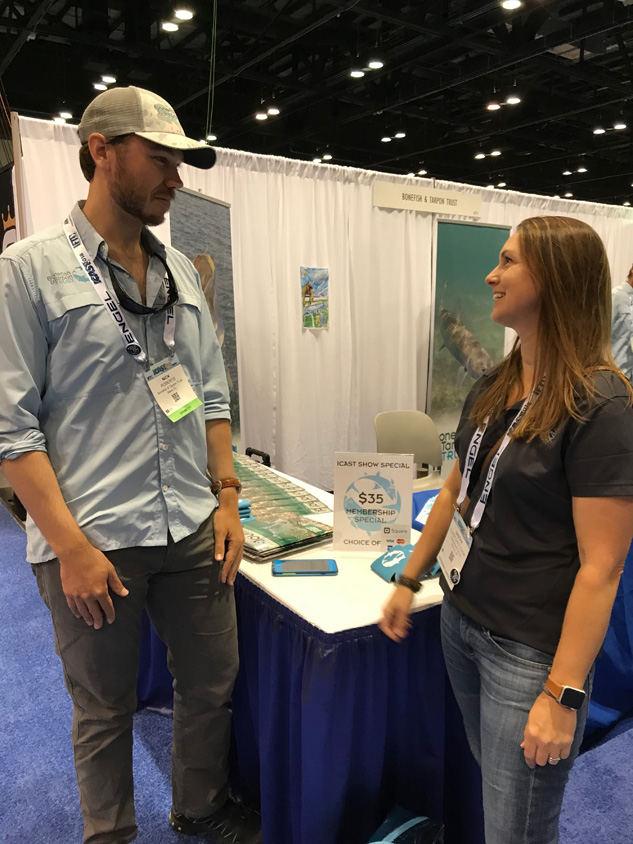 Sascha Clark Danylchuk and Nick Roberts of Bonefish & Tarpon Trust talk science and fish.