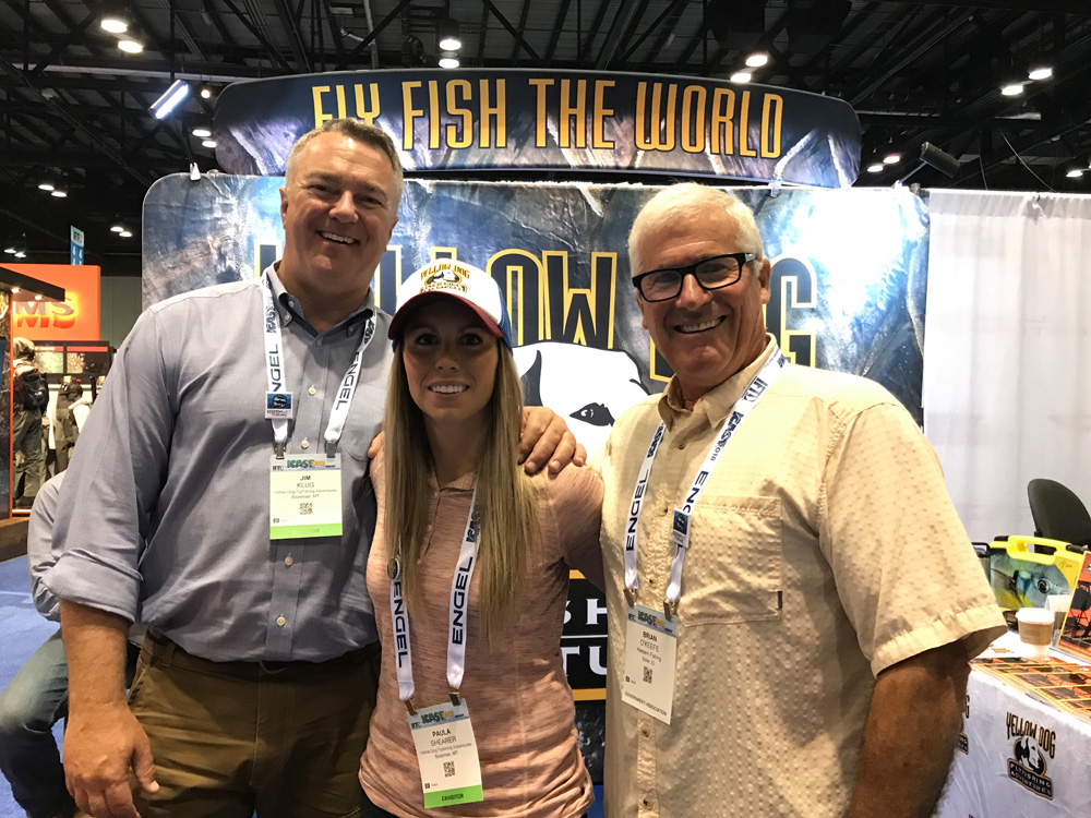 Big time. Jim Klug and Paula Shearer of Yellowdog Adventures hang with KWF Ambassador and legendary fish-bum Brian O'Keefe.