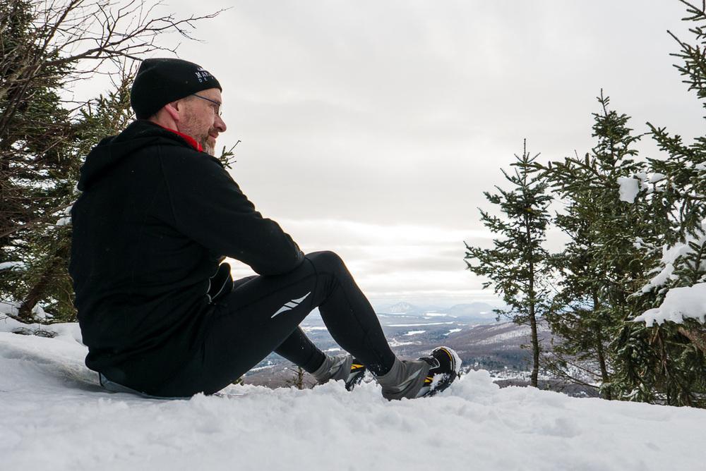 Ma dernière sortie en montagne, le 9 janvier, avec mes Altra Lone Peak 2.5