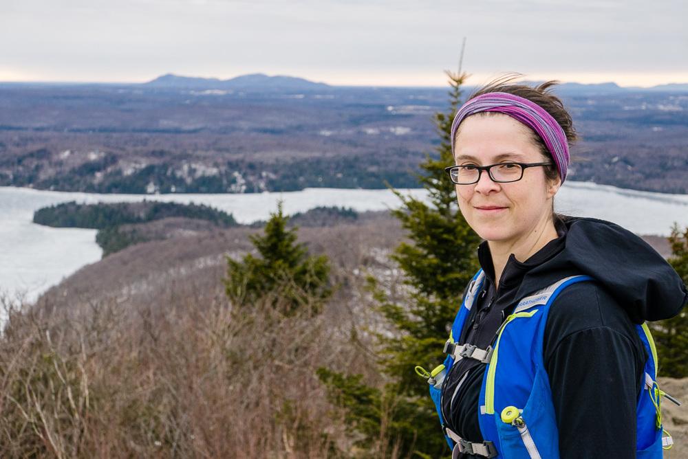 Edith sur le Mont Chauve. Elle est belle ma femme :)