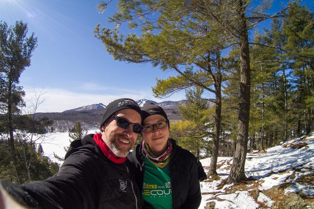 Edith et moi dans le parc du Mont Orford - 5 mars 2016 :)