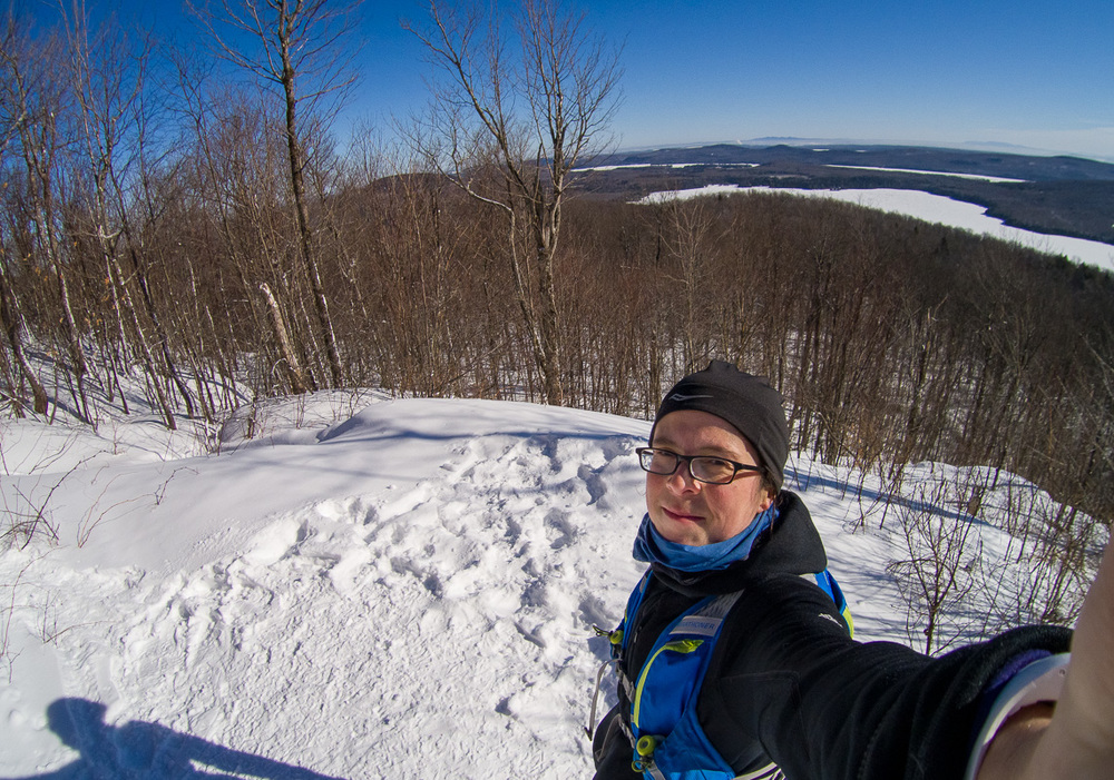 Edith au Mont Chauve le 4 mars 2016 :)