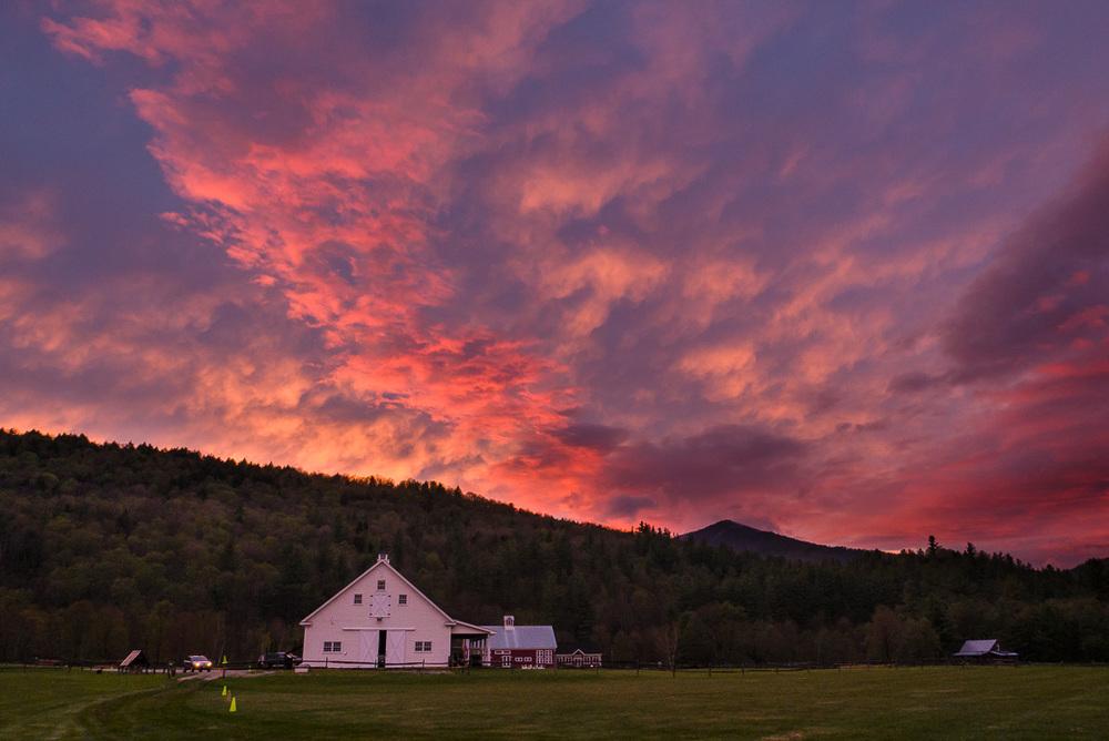 Magnifique coucher de soleil à Pittsfield, VT