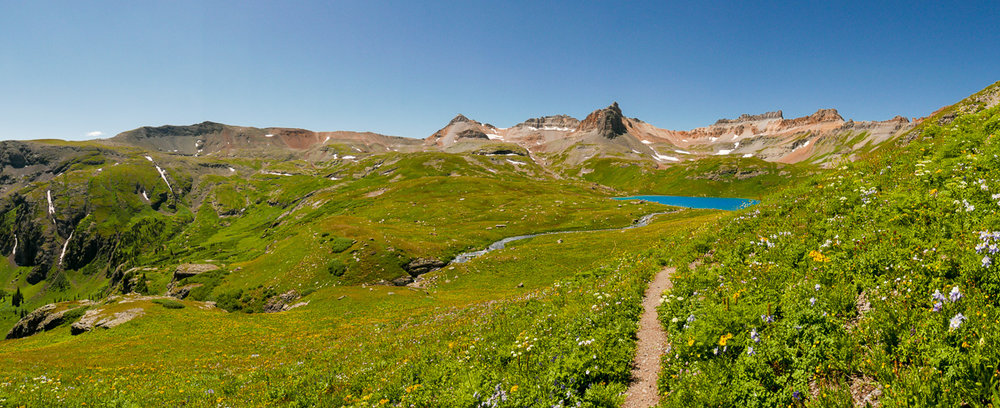 Ice Lake, du sentier menant vers Island Lake