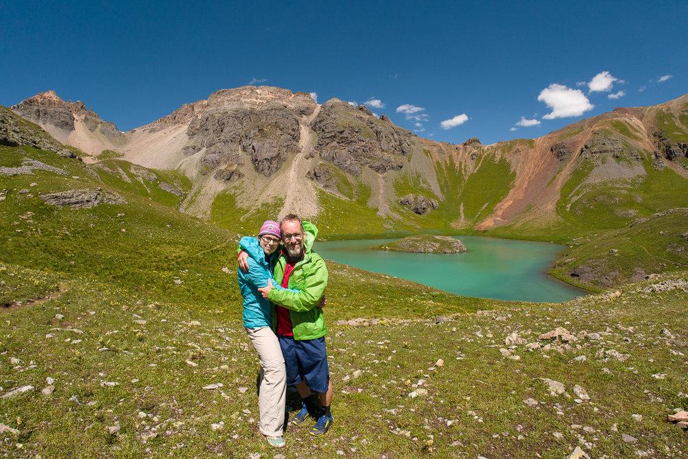 Edith et moi à Island Lake