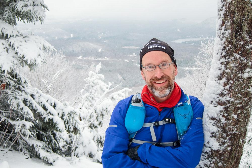 Mont Chauve ce matin. Un beau 17km dans la neige. :)