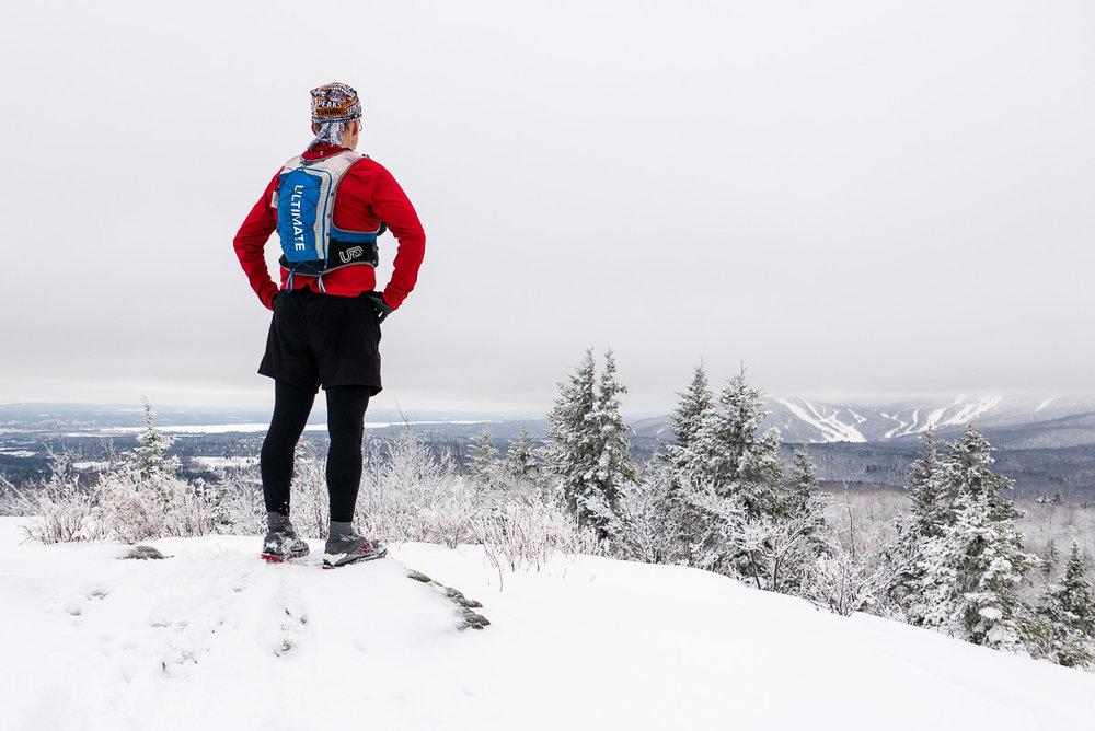 Le Sentier du Cert dans le parc du Mont Orford. Vive les Altra Lone Peak 3.0 Neoshell pour garder les pieds au chaud dans ces conditions. :)