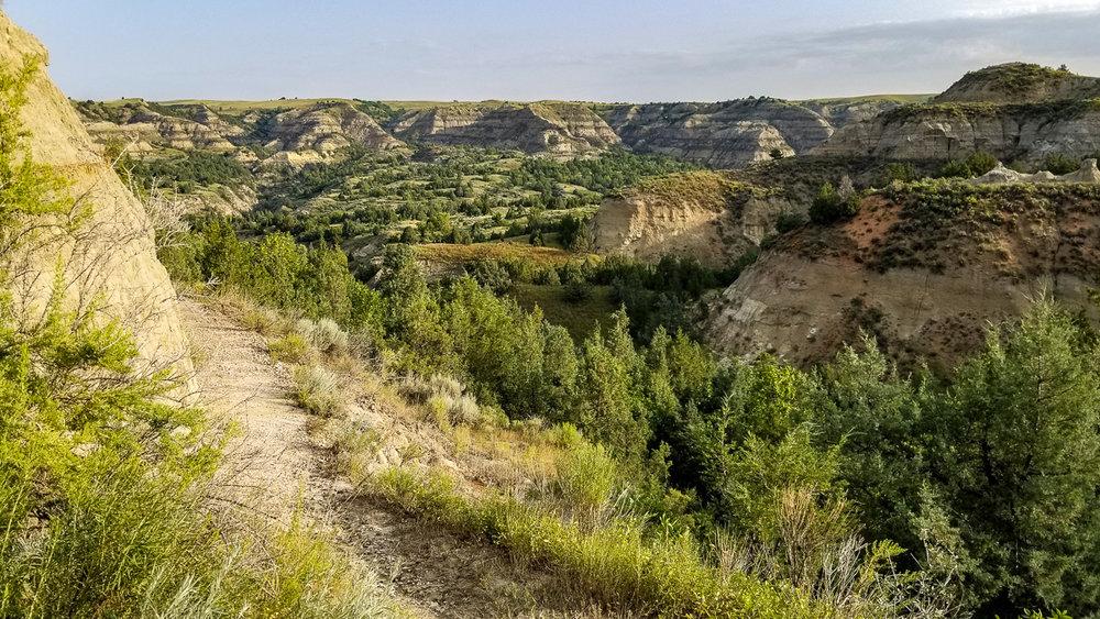 The beautiful Maah Daah Hey Trail, in North Dakota. I enjoyed (almost) every minute of it. :)
