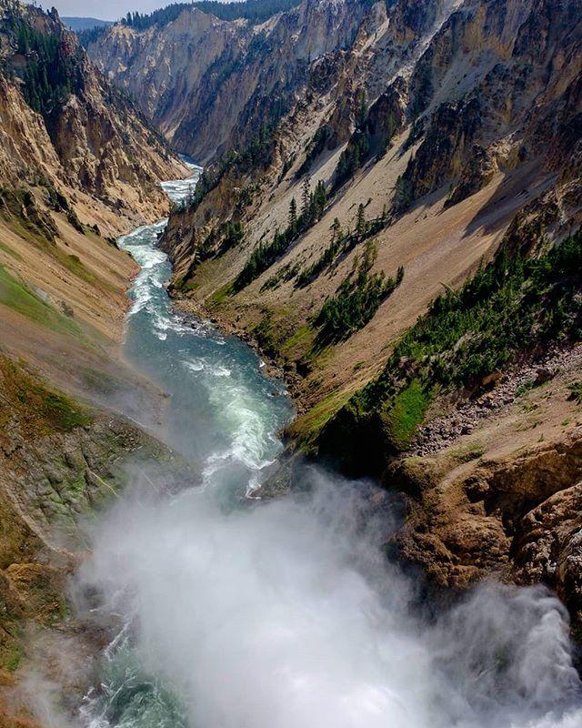 Grand canyon of the Yellowstone #yellowstonenationalpark #roadtrip #hiking #canyon #river #wyoming