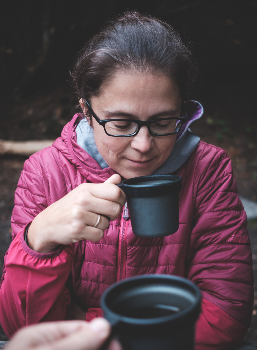 My favorite moment in camping... morning coffee :)