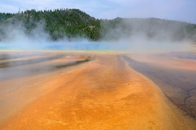 Grand Prismatic Spring, Yellowstone National Park.  #yellowstonenationalpark #Yellowstone #geyser #prismatic #hiking #roadtrip #wyoming #colorful #summer #hotsprings