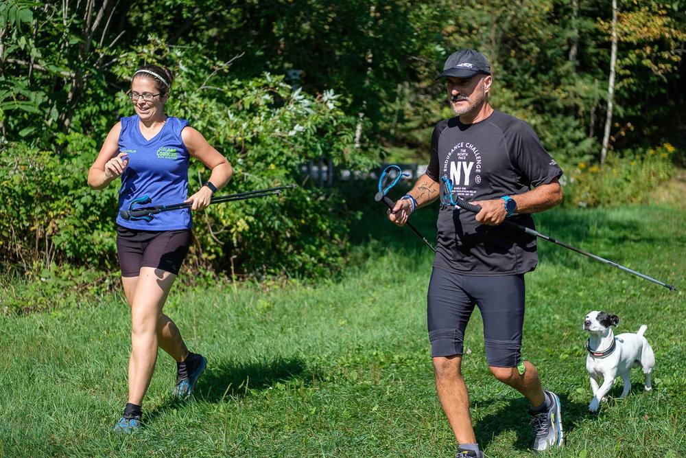 Edith et Richard en finissant leurs 19ème tour, à 105,4km
