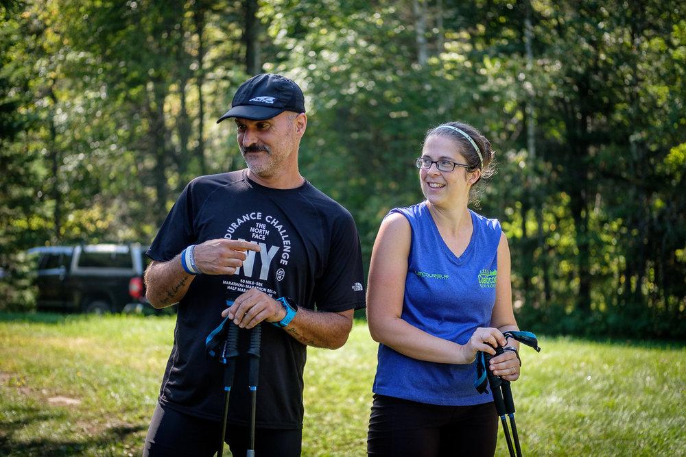 Richard et Edith, au fil d'arrivée, après 105,4km. Ils ont ter