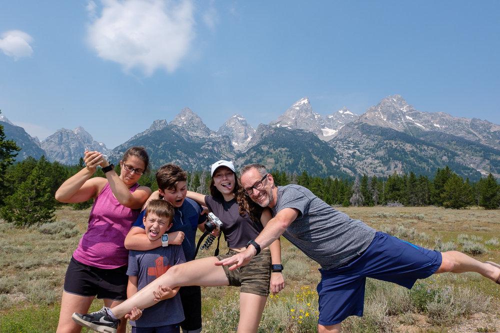 Après un picnic à Grand Teton :)