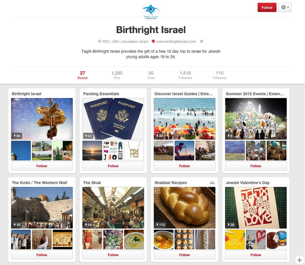 Birthright Israel Pinterest