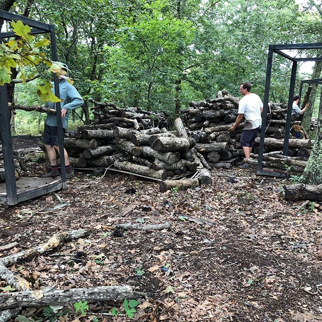 Wild Harvest Shiitakes start with the food they evolved to digest- whole oak logs. Moving all those logs is hard work, and our team kills it every day to make sure we have fresh mushrooms daily all season long.