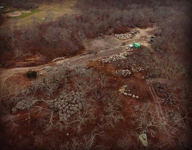 KILLER drone photo of the farm!! Thanks @romcaz!! #visiblefromspace #howmanystacksisthat