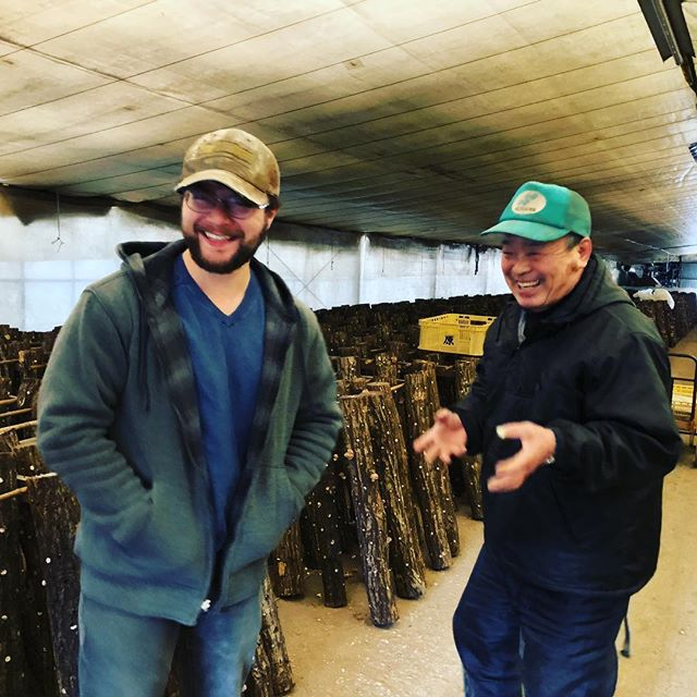 An INCREDIBLE three days of learning and eating with our colleagues across the world, Okuda's Shiitake!! Heading back to the states with new ideas and renewed zeal for the craft of Genboku (log growing shiitakes!) #okonomiyaki #themoonmatters #cmonbabyamerica