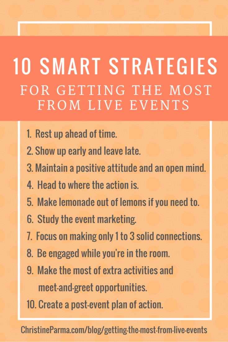 10 smart strategies for getting the most from live events-pinterest