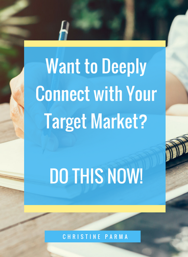 In a noisy and crowded world, how do you stand out and connect with those who want and even need what you're offering? The answer is surprisingly simple. http://christineparma.com/blog/connect-with-your-target-market