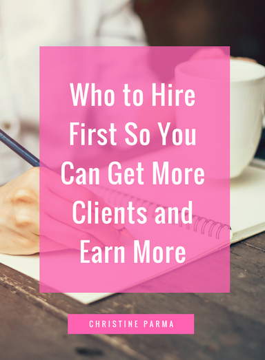 Learn the 5 simple steps to knowing which activities you should outsource in your solopreneur coaching, consulting or service business to get more clients, generate more income and grow your business faster.http://christineparma.com/blog/who-to-hire-first
