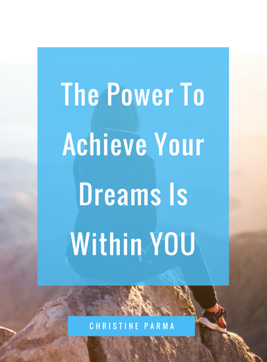 No matter who you are, everyone has times when we get into a low-energy funk and don't feel like doing anything. And, if you're out there pursuing your dreams and building a business doing what you love, there can be a lot of tough days. Here's some inspiration to help you persevere. http://christineparma.com/blog/the-power-to-achieve-your-dreams-is-within-you