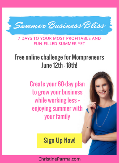 Get the plan to grow your business while having tons of family fun this summer! Join the Summer Bliss Business Challenge for Mompreneurs happening June 12th-18th, 2017. Sign up here->http://bit.ly/2s6zCaU