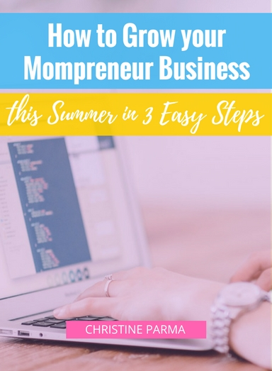 Summer can be a chaotic and overwhelming time for Mompreneurs like you and me. You're juggling an irregular schedule filled with family vacations, visitors and summer camps.  So if you're both a mom and an entrepreneur, how can you actually grow your business this summer without missing out on all the summer fun?  I'm going to tell you exactly how to do it in 3 easy steps.   http://ChristineParma.com/blog/grow-your-mompreneur-business-3-steps