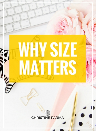 "Guys, I'm here to tell you, size ALWAYS matters! Just to clarify, I'm talking about the passionate and purposeful ""why"" for being in business and the ""why"" that drives you to go after your dreams… as in, ""Why Size"" Matters. (wink)  Why do big, passionate and purposeful whys matter so much? Your ""whys"" play a major role in influencing whether your business thrives or fails and whether as an enterprising entrepreneur you persevere or give up. Passionate and purposeful why represent your emotional drivers, which are always more powerful than logical drivers. When you have an emotional attachment to a process or an outcome, you're much more likely to go the extra mile and not only get to the finish line but run through it with gusto.    http://christineparma.com/blog/why-size-matter  s   #bossmom #entrepreneur #entrepreneurship #mindset #business #passion #motivation #personalgrowth"