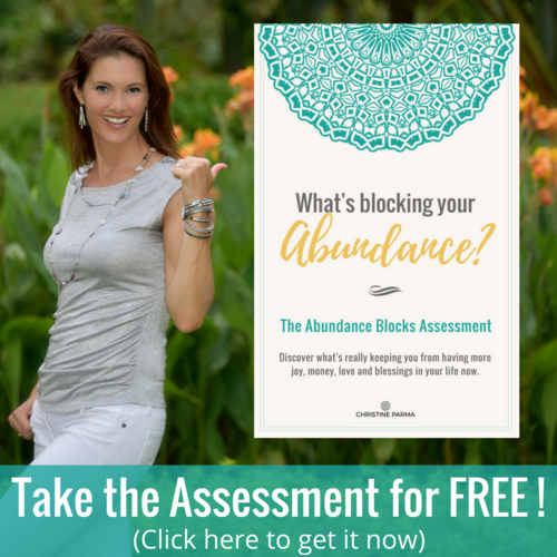 """Get insight into your own personal """"abundance blockers"""" so you can finally clear them for good.   Identify unconscious beliefs, patterns and habits that are stopping you from creating more abundance in your life  Uncover how these abundance blocks are showing up in your life and sabotaging your efforts  Get clear on the next steps you need to take to go from struggle, frustration and stressed-out to creating your most joyful, fun and prosperous life!  Click here."""