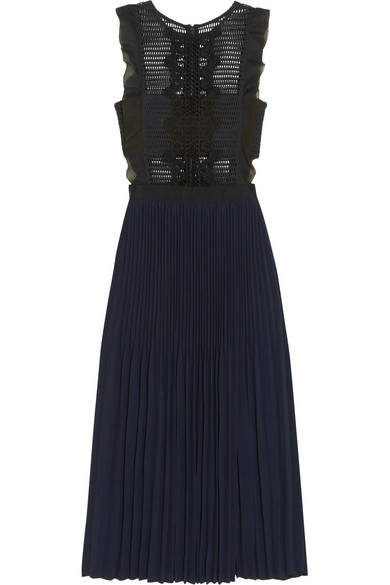 Guipure lace crepe dress - £255, Self Portrait