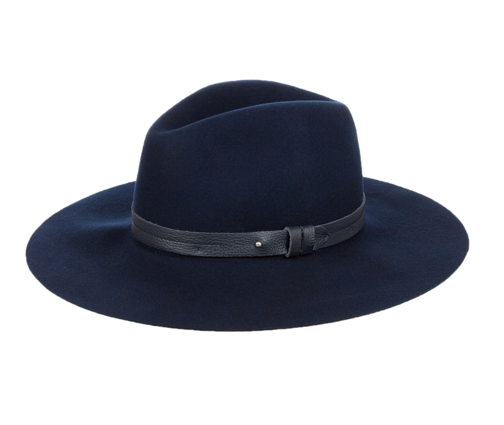Rag & Bone, Wide-brim wool fedora hat, £150, Matches Fashion