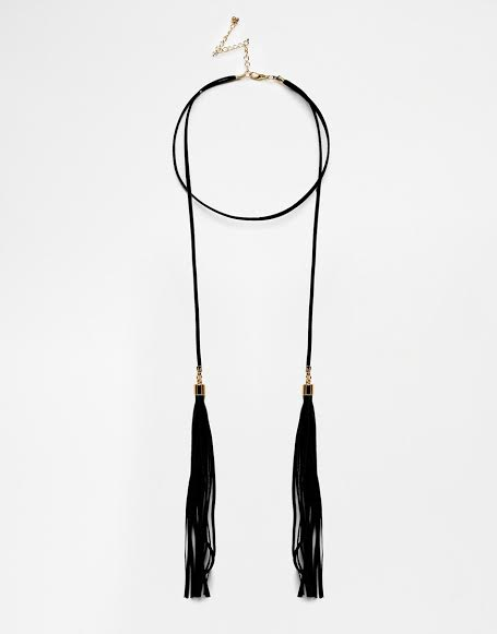 Thong Choker Tassel Necklace, ASOS £12.00