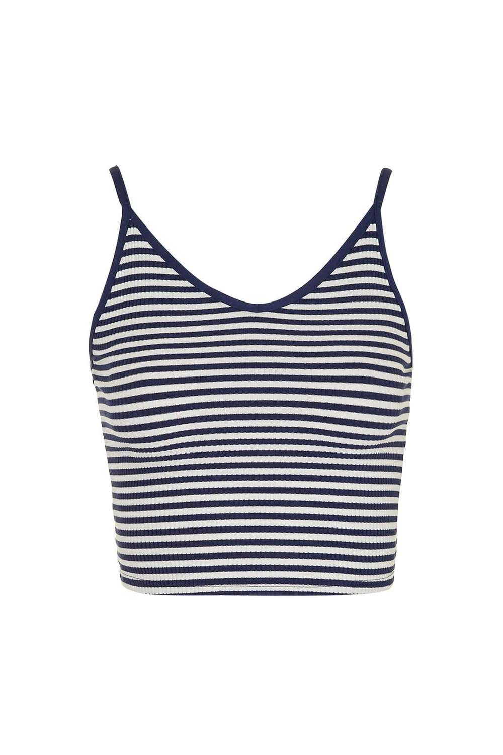 Stripe Crop Cami £8.00, Top Shop